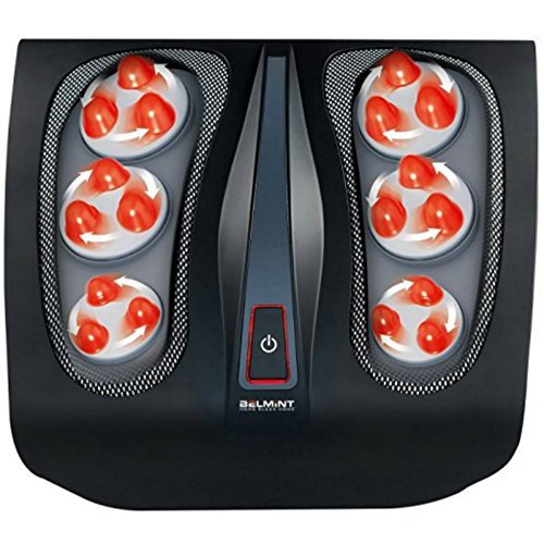 Shiatsu Foot Massager for Plantar Fasciitis - Heated Electric Deep Kneading Foot Massage for ...