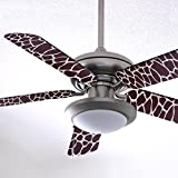 Fancy Blade Ceiling Fan Accesories Blade Cover Decoration, Brown Giraffe