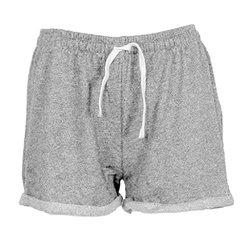 Sportivi Spiaggia Shorts Pants Skinny Jogging Pantaloncini Hot Donna Grigio Breve Estate Moda Palestra Yoga Elastici Minetom nWTIzYqH6x