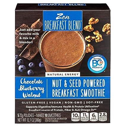 Zen - Mezcla de desayuno, mezcla de proteínas de lino/chia ...