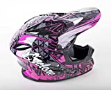 quad helmets for youth - Cyclone ATV MX Motocross Dirt Bike Quad Off-road Helmet - Pink - Youth Large