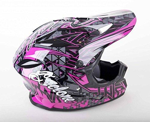 (Cyclone ATV MX Dirt Bike Off-Road Helmet DOT/ECE Approved - Pink - Youth Medium)
