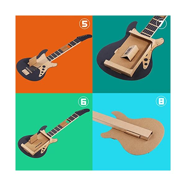 MENEEA Cardboard Guitar for Nintendo Switch Accessories Variety Kit,Guitar for Toy-Con Garage 4