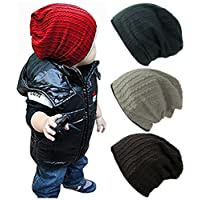 Qandsweet Baby Boy's Hat Kids Cool Knit Beanie Hats Toddlers Caps (4 Pack Boy...