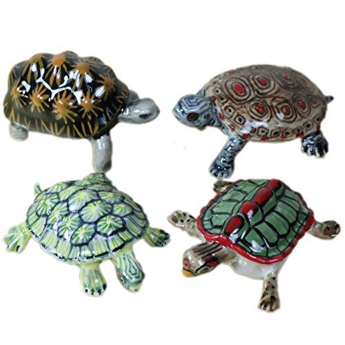 4 Turtles Miniature Ceramic Statue Figurine (2