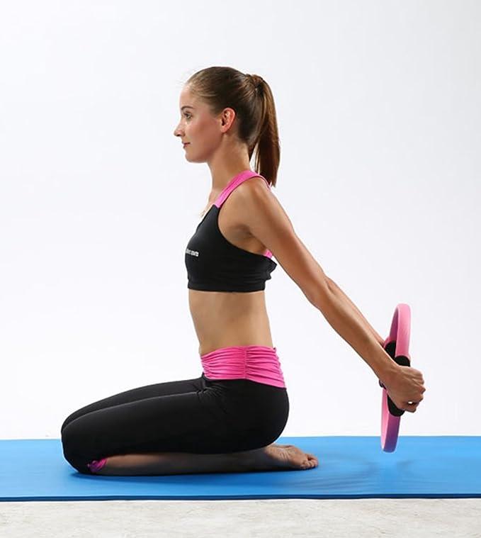 Baijiaye Aro de Pilates de Entrenamiento de Resistencia de Aptitud de Yoga Rueda Fitness las mujeres