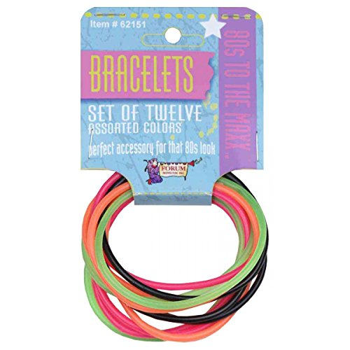 Cute Costume Ideas 2016 (80s 12 Piece Bracelet Set Costume Accessory Adult Halloween)