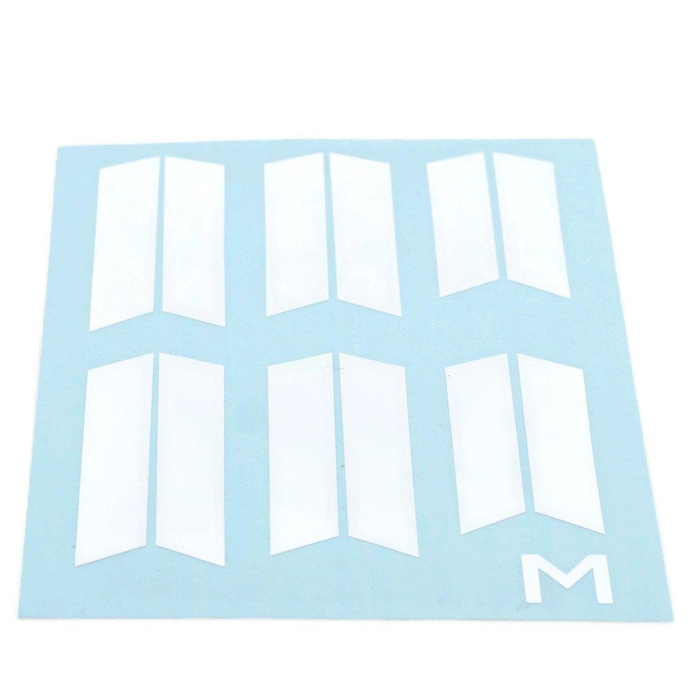 Custom Ultraboost Vinyl Stripes (Peel and Attach) (Large (Sz 9-11), Matte White)