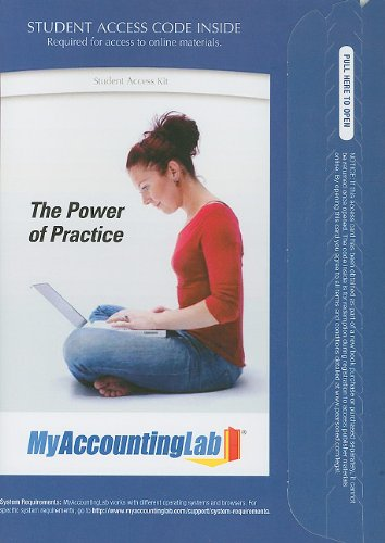 MyAccountingLab with Pearson eText -- Access Card -- for Accounting (MyAccountingLab (Access Codes))