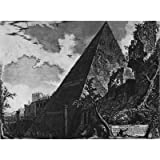 Giovanni Battista Piranesi (Vedute the Pyramid of Cestius) Art Poster Print - 11x17