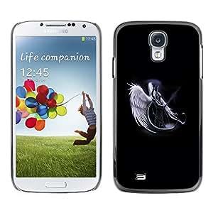 Design for Girls Plastic Cover Case FOR Samsung Galaxy S4 Angel Death Warrior White Art Heaven Sword OBBA