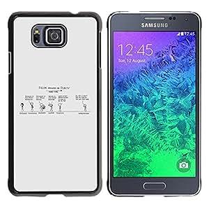 Esa pureza Convo - Metal de aluminio y de plástico duro Caja del teléfono - Negro - Samsung ALPHA G850