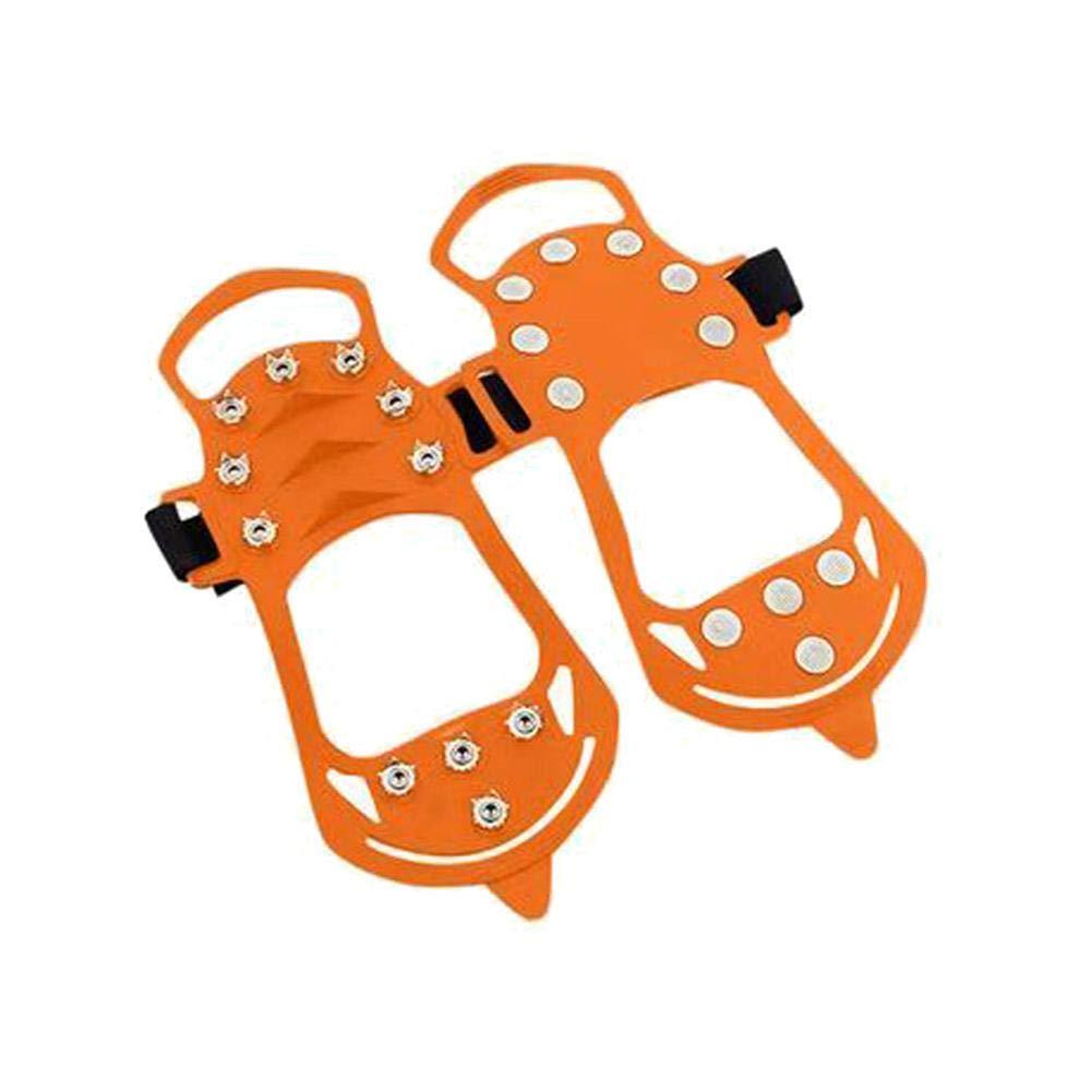 AIflyMi Crampons Antidérapant sur Chaussures avec 11 Pointes en Acier pour la Glace et la Neige - pour Chaussures/Bottes - Faciles à Enfiler