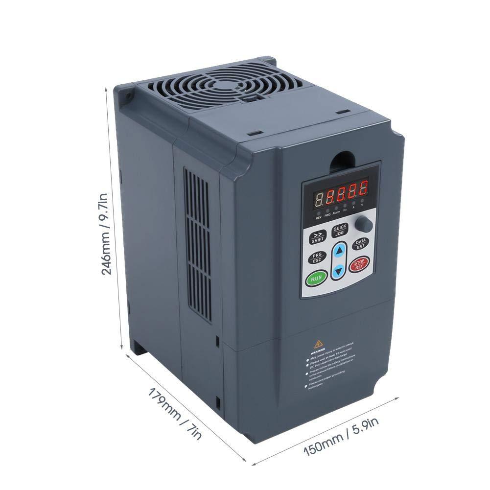 AC 380V 7.5KW Inverter VFD SKI600-7D5G 011P-4 Motore trifase a variazione continua per motori pesanti Inverter Controllo velocit/à di comando Regolatore di velocit/à a tutto tondo Protezione per pres
