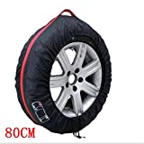 Car Black Red 13-16'' ,17-20'' Spare Tire Tyre Wheel Cover Bag With Carrying Handles Tote Car Wheel Protector Storage (1PCS Of Pack) (80cm)