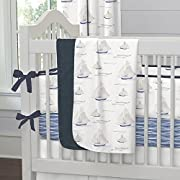 Carousel Designs Blue Ocean Sailboats Crib Blanket