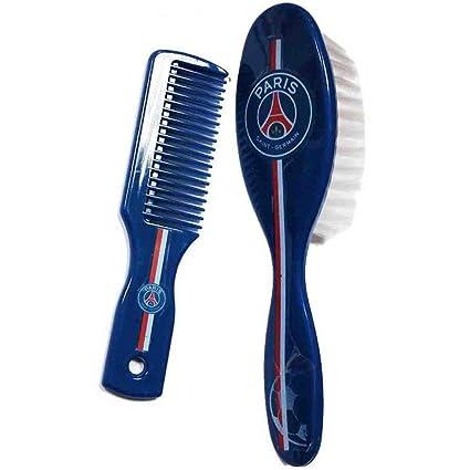 9c9be97c99d Pack brosse à cheveux et peigne PARIS SAINT-GERMAIN. Produit sous licence  officielle
