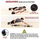 SNODE Push up bar(2019 New Model: AK3) Pushup Bars, Strength Training Pushup Stands, Multi-Functional for Ab Roller Wheel &Push Up Handle for Whole Body Workouts