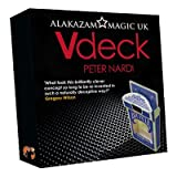 V Deck Blue (with DVD and Gimmick) by Peter Nardi - Trick by Alakazam UK