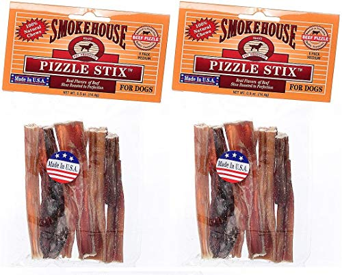 (SMOKEHOUSE PET PRODUCTS 83038 6-Pack Beef Pizzle Treat for Dogs, 4-Inch (2 Pack))