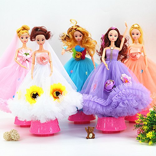 Decoration Purple Bridal Gift Doll Rotating For Toy For Wedding
