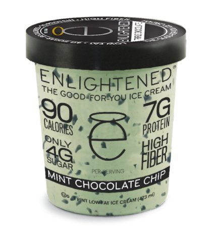 Enlightened, The Good For You Ice Cream, Pint (4 Count) (Mint Chocolate Chip)