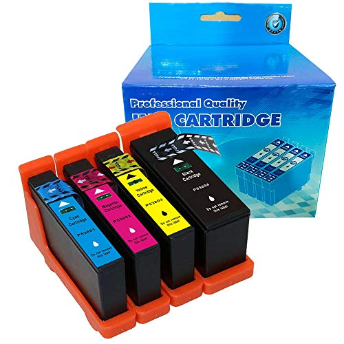 B-T Compatible Ink Cartridge Replacement for Primera 53606 53601 53602 53603 53604 Compatible with Bravo 4100 Series (1 Black, 1 Cyan, 1 Magenta, 1 Yellow,) 4 Pack ()
