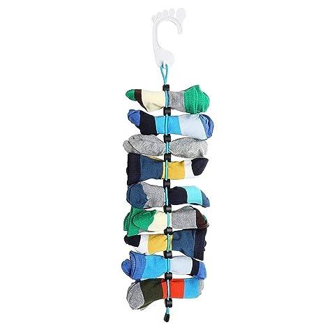 WSGQLT Organizador de calcetines para sujetar y colocar calcetines fácilmente sin cuerdas, bolsas ni divisores para lavandería. Lava, seca, guarda y ...
