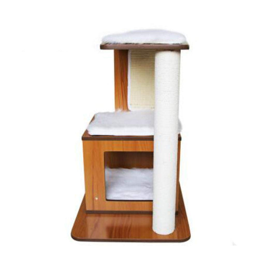 Deluxe Multi Cat Tower cat Trees Towers Cat Stand cat Tree cat Jumping Platform pet Solid Wood nest Cat Supplies 59  45  72cm