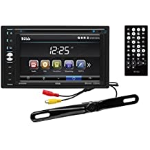 BOSS Audio BVB9358RC Double Din, Touchscreen, Bluetooth, DVD/CD/MP3/USB/SD AM/FM Car Stereo, 6.2 Inch Digital LCD Monitor, Wireless Remote, Rear License Plate Mount Camera Included