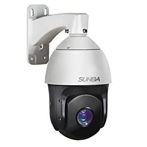 SUNBA 20x Optical Zoom IP PoE+ Outdoor PTZ Camera, 1080p High Speed Security Dome, ONVIF with Audio and Night Vision up to 800ft (601-D20X)