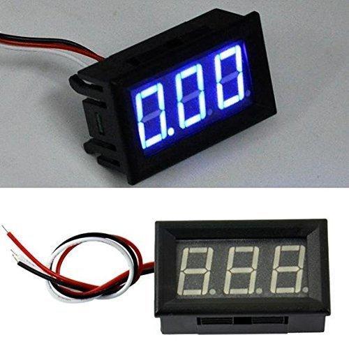 Blue Panel LED Meter Digital Mini DC Voltmeter 0-100V