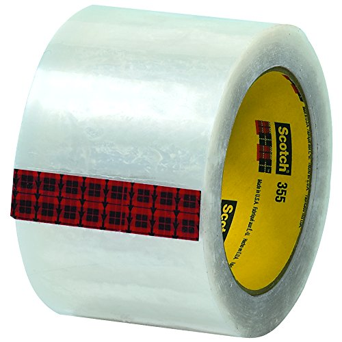 Scotch T905355 Clear #355 Carton Sealing Tape, 3