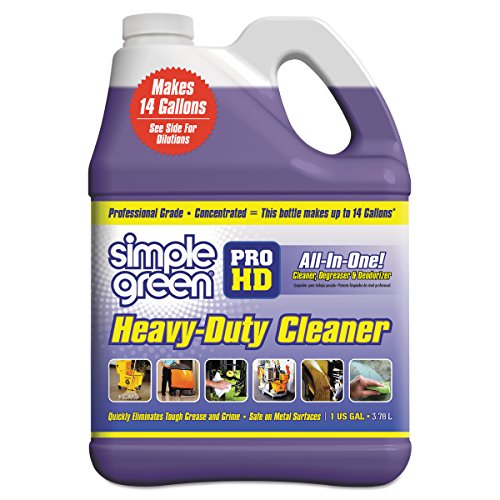 (Simple Green 13421 Pro HD Heavy-Duty Cleaner, Unscented, 1 gal Bottle (Case of 4))
