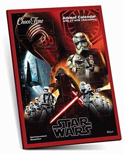 Schokoladen Adventskalender Star Wars Episode 7 mit 3 Design Karten