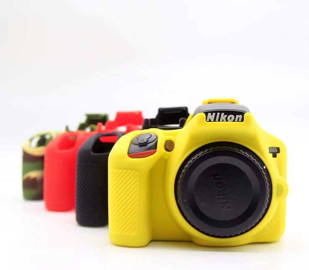 1pcs Soft Silicone Protective Skin Camera Case Body Shell Cover For Nikon D3500 Camera Black