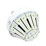 60W Daylight LED Corn Light Bulb for Indoor Outdoor Large Area - E26 9500Lm 3000K for Street Lamp Parking Lot Post Lighting Garage Warehouse High Bay Barn Porch Backyard Garden Airport Super Bright