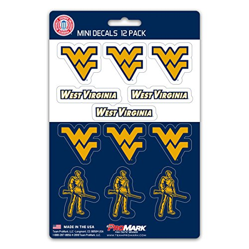 ProMark NCAA West Virginia Mountaineers Decal Set Mini (12 Pack), Team Color, One Size ()