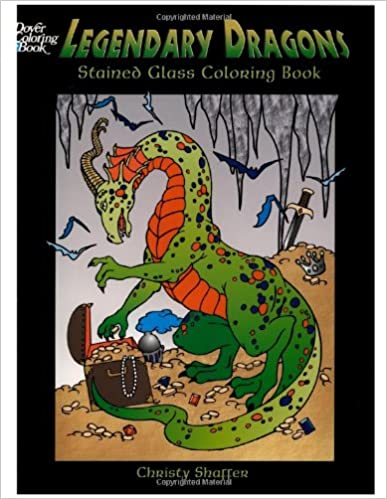 Legendary Dragons Stained Glass Coloring Book (Dover Stained