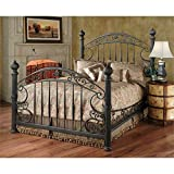Hillsdale Furniture 1335BKR Chesapeake Bed Set with with Rails, King, Rustic Old Brown