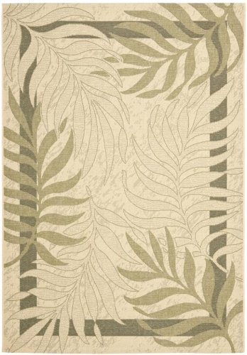 Safavieh Courtyard Collection CY7836-14A5 Cream and Green Indoor/ Outdoor Area Rug (2' x 3'7