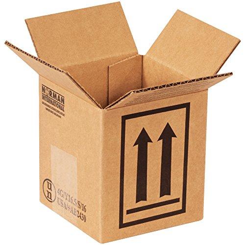 Aviditi Single-Wall Corrugated Haz Mat Box, 1 qt Can, 4-7/16