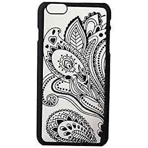 iPhone 6S Case, Dawanza, Black Floral Paisley Flower Pattern Hard Cover Case for iPhone 6S/6