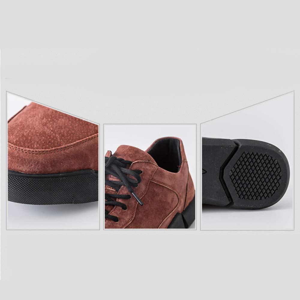 YXLONG Herbst Leder Herrenschuhe, Nähen Niedrig-Top-Casual-Schuhe, Herren Sportschuhe PU Nähen Herrenschuhe, Braun f05701
