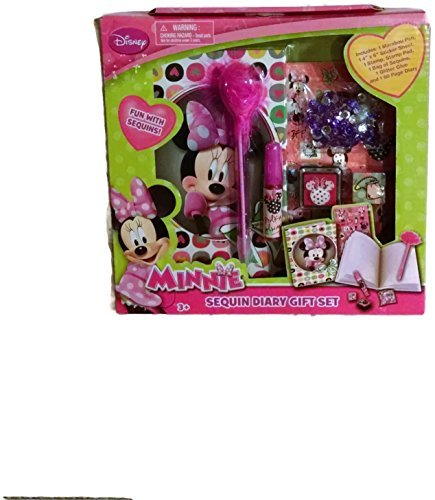 Minnie Mouse Sequin Diary Gift Set