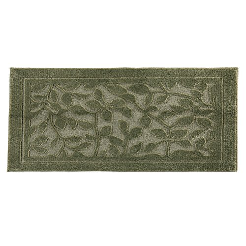 Collections Leaf Pattern Decorative Indoor Area Accent Rug, Sage, 22