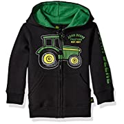 John Deere Boys' EST 1837 Fleece, Black, 12 Months