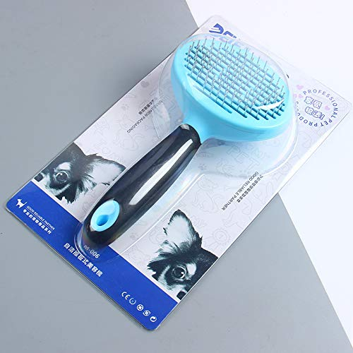 Pet Brush Self Cleaning Dog Slicker Brush Easy to Clean Pet Grooming Brushes Shedding Grooming Tools for Dogs & Cats…