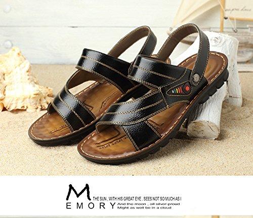 estate Uomini traspirante sandali Tempo libero piatto Sandali maschi tendenza Uomini all'aperto moda Spiaggia sandali ,nero,US=6.5,UK=6,EU=39 1/3,CN=39