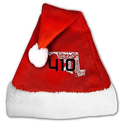 Baltimore Maryland 410 Area Code Mini Santa Hat Baby Santa Hat Merry Christmas Holiday Theme